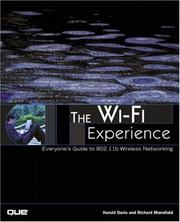 Cover of: The Wi-Fi Experience by Harold Davis, Richard Mansfield