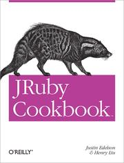 Cover of: JRuby Cookbook | Edelson, Justin