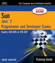 Cover of: Sun Certification Training Guide (CS-310-025 & CX-310-027)
