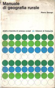 Cover of: Manuale di geografia rurale