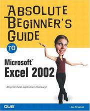 Cover of: Absolute Beginner's Guide to Microsoft Excel 2002