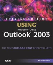 Cover of: Special Edition Using Microsoft Office Outlook 2003 | Patricia Cardoza