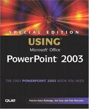 Cover of: Special Edition Using Microsoft Office PowerPoint 2003 | Patrice-Anne Rutledge
