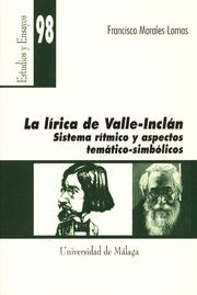 Cover of: La lírica de Valle-Inclán