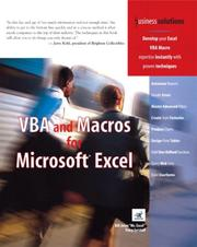 Cover of: VBA and Macros for Microsoft Excel (Business Solutions) | Bill Jelen