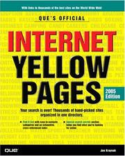 Cover of: Que's Official Internet Yellow Pages, 2005 Edition (Que's Official Internet Yellow Pages)