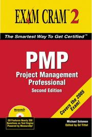 Cover of: PMP Exam Cram 2 | Michael Solomon