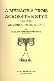 Cover of: A m©Øenage ©Ła trois across the Styx