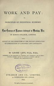Cover of: Work and pay