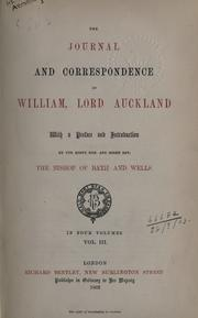 Cover of: Journal and correspondence