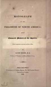 Cover of: A monograph of the trilobites of North America