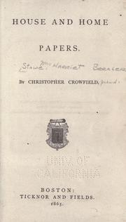 Cover of: House and home papers