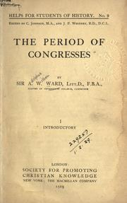 Cover of: The period of congresses