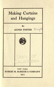 Cover of: Making curtains and hangings