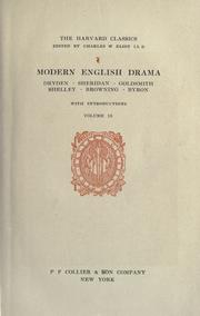 Cover of: Modern English drama by