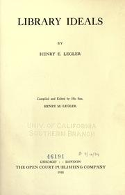 Cover of: Library ideals