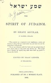 Cover of: Spirit of Judaism