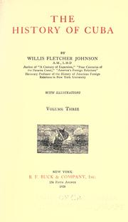 Cover of: The history of Cuba by Willis Fletcher Johnson
