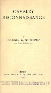 Cavalry reconnaissance by William Wylie Norman