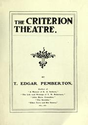 Cover of: The Criterion Theatre