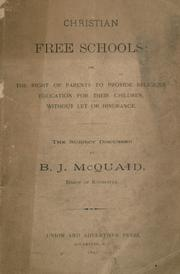 Cover of: Christian free schools