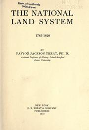 The national land system, 1785-1820 by Payson Jackson Treat