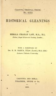 Cover of: Historical gleanings