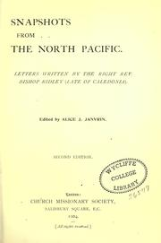 Snapshots from the North Pacific by Ridley, William