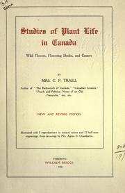 Cover of: Studies of plant life in Canada