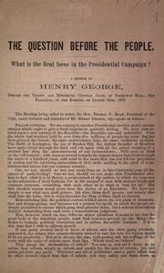 Cover of: The question before the people | George, Henry