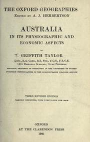Cover of: Australia in its physiographic and economic aspects
