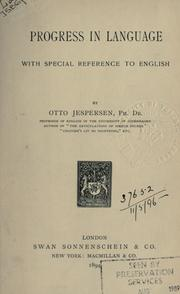 Cover of: Progress in language