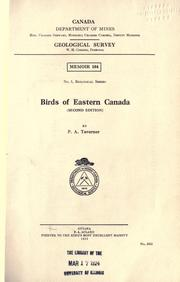 Birds of eastern Canada by P. A. Taverner