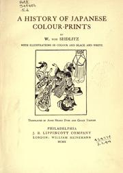 Cover of: A history of Japanese colour-prints