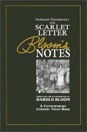 Cover of: Nathaniel Hawthorne's the Scarlet Letter: Bloom's Notes (Contemporary Literary Views)