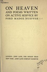 Cover of: On Heaven, and poems written on active service