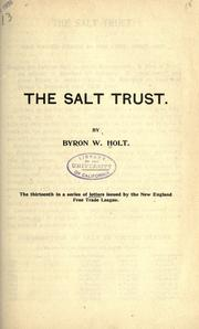 Cover of: The salt trust
