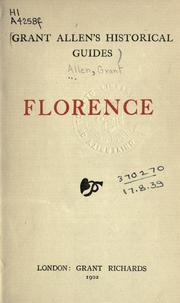Florence by Grant Allen