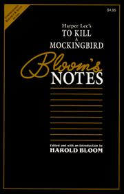 Cover of: Harper Lee's to Kill a Mockingbird (Blooms Notes)