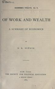 Cover of: Of work and wealth
