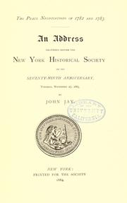 Cover of: The peace negotiations of 1782 and 1783