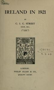 Cover of: Ireland in 1921