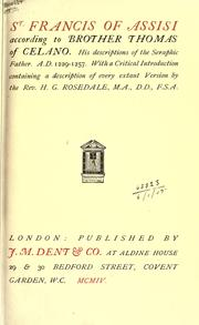 Cover of: St. Francis of Assisi