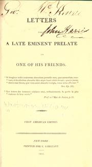 Cover of: Letters from a late eminent prelate to one of his friends ... First American edition