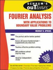 Cover of: Schaum's outline of theory and problems of Fourier analysis