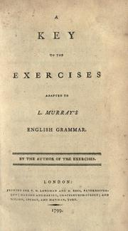 Cover of: A key to the exercises