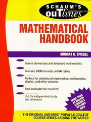Cover of: Schaum's Outline of Mathematical Handbook of Formulas and Tables