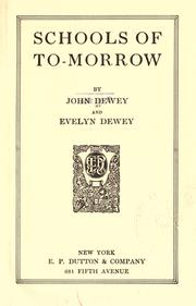 Cover of: Schools of to-morrow