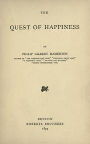 Cover of: The quest of happiness