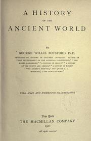 Cover of: A history of the ancient world